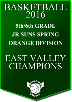 banner 2016 JR SUNS CHAMPS SPRING EV ORANGE