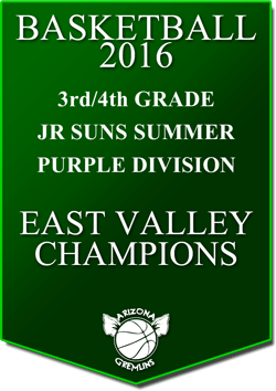 banner 2016 JR SUNS CHAMPS SUMMER EV PURPLE