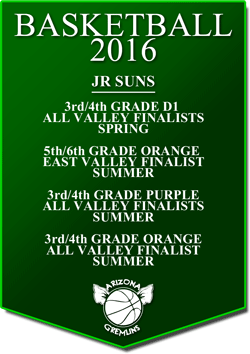 banner 2016 JR SUNS LEAGUE